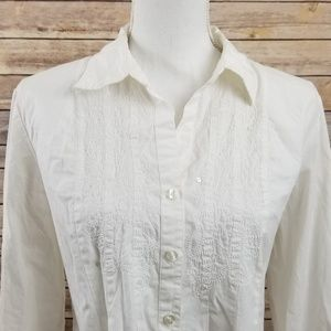 Emma James White Button Down Shirt